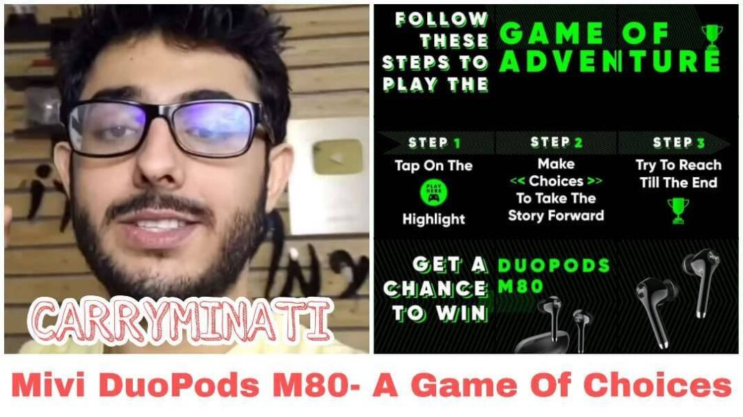 Carryminati Win Mivi DuoPods M80- A Game Of Choices