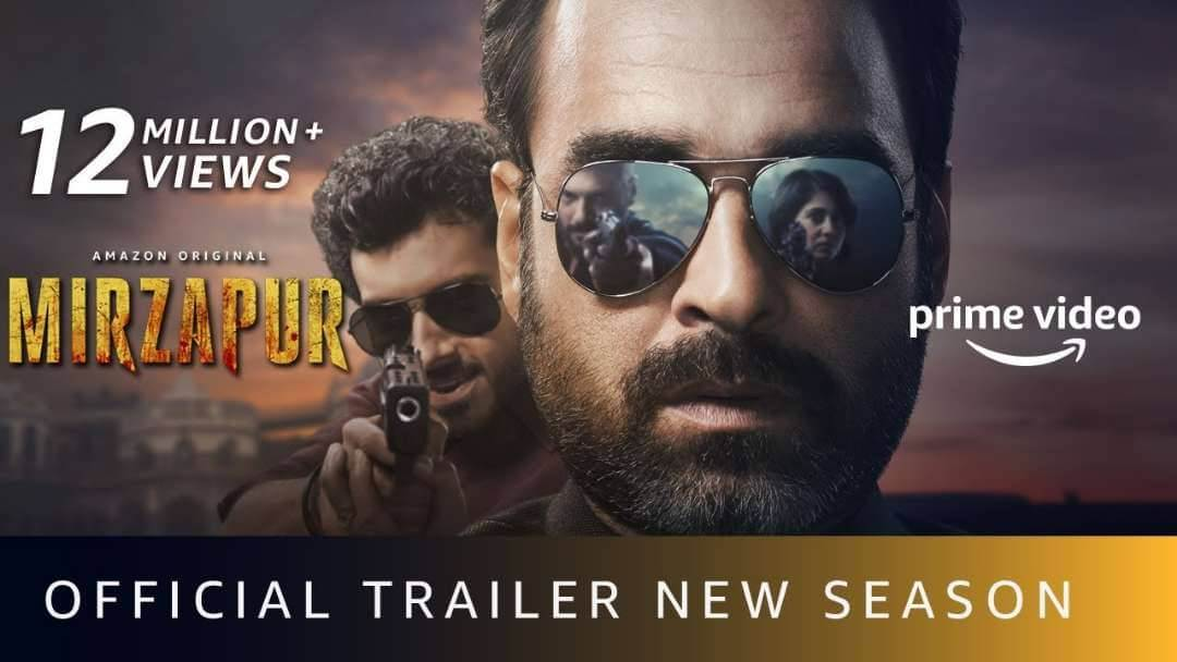 Mirzapur season 2 trailer is released with gun shot and great action!
