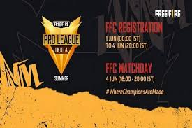FFPL India 2021 :free fire pro league launched how to register