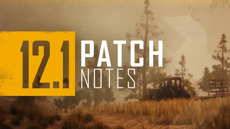 Pubg battleground 12 season 12.1 note patch new features and weapon