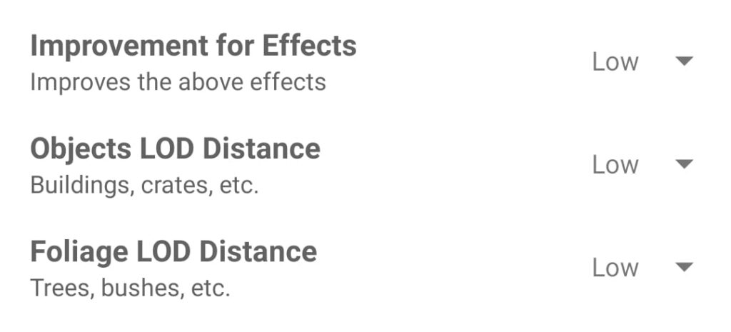 GFX Tool Improvement Effects Objects LOD Distance