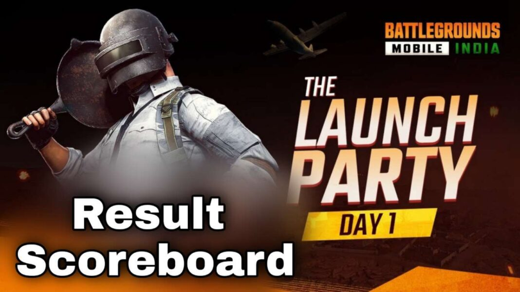BGMI Launch Party (Day 1) Result and Scoreboard Check Details
