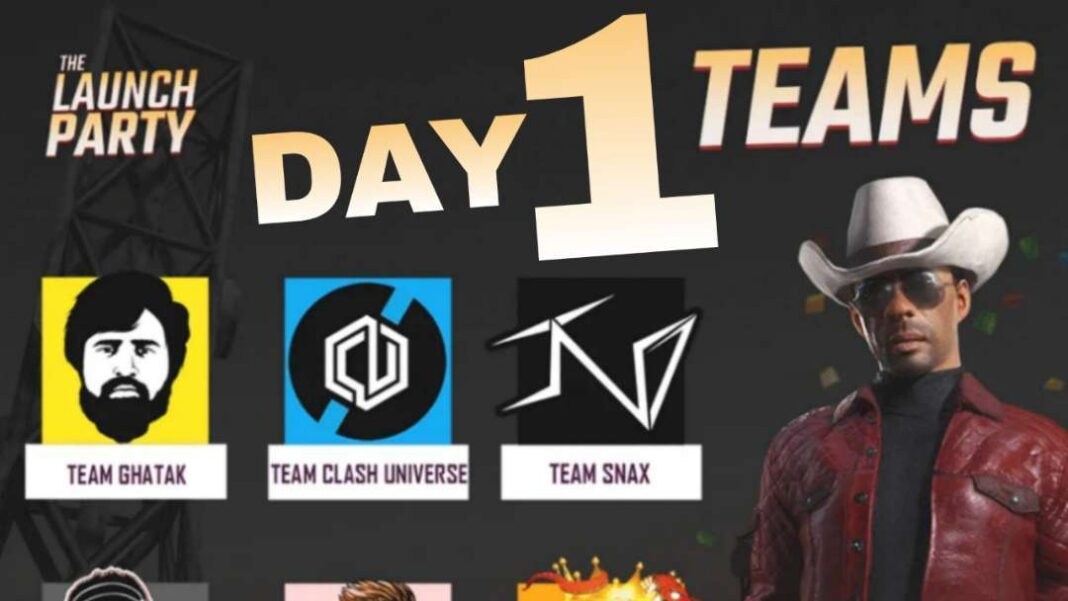 BGMI Launch Party Day 1 Team Name & Everything you need to know