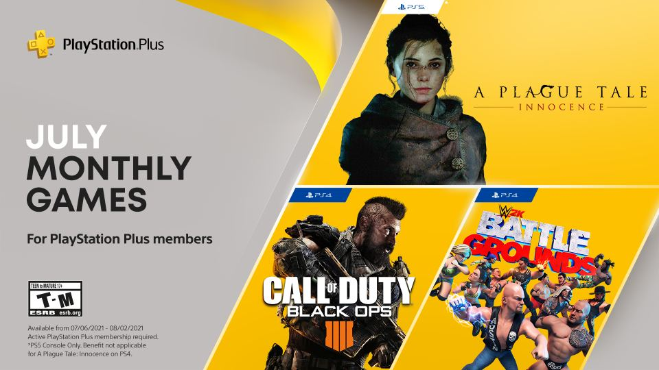 PlayStation Plus games for July Call of Duty Black Ops4 and more game