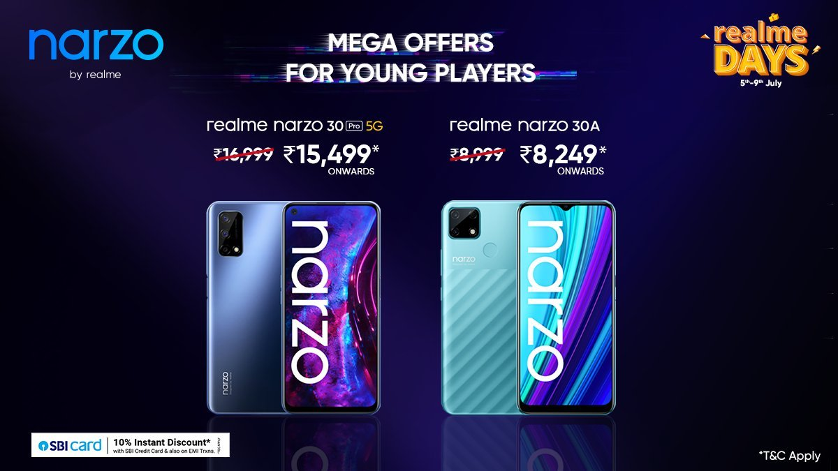 Realme Best Deal For Gamer Perfect Opportunity From 5th July to 9th July