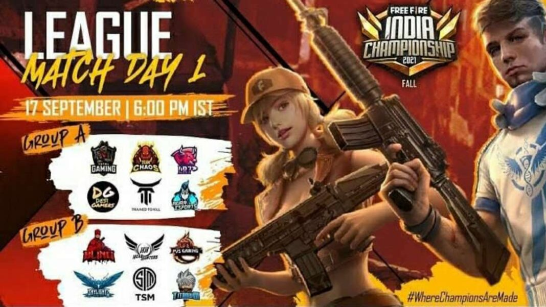 Free Fire FFIC (Free Fire India Championship) 2021 Fall schedule & Groups