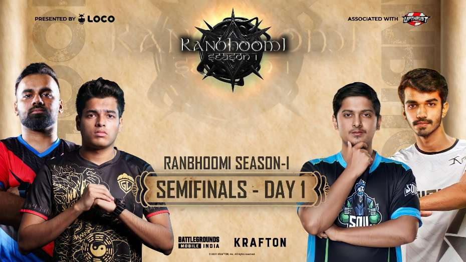 LOCO x Upthrust Esports Ranbhoomi Season 1 BGMI Semifinal day 1 Point Table, Overall Standings
