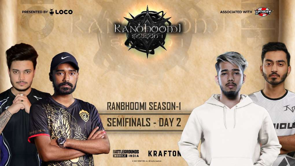 LOCO x Upthrust Esports Ranbhoomi Season 1 BGMI Semifinal day 2 Point Table, Overall Standings