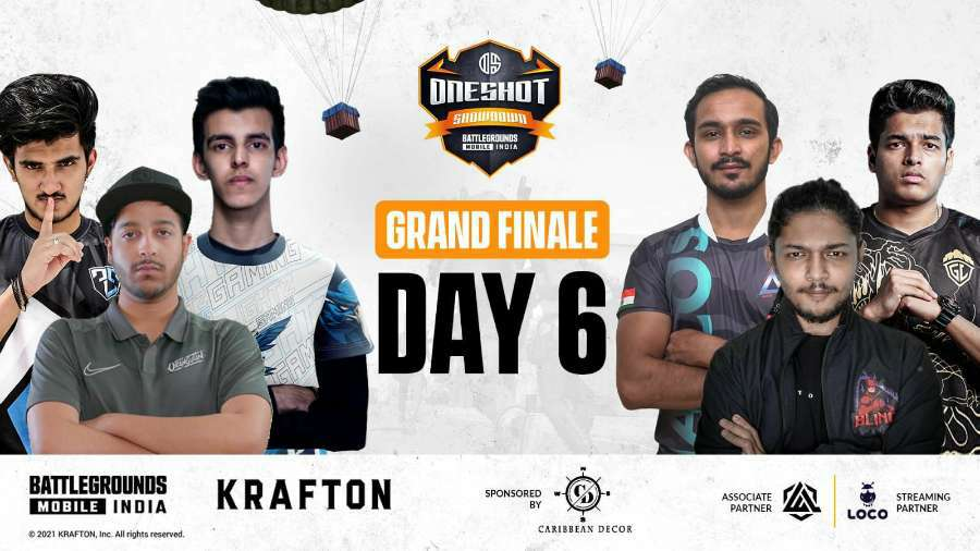 OneShot Esports Showdown Grand Final Day 6 Point Table, Top Fragger, overall standing