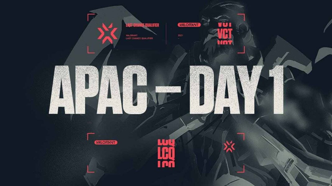 VCT 2021 APAC Last Chance Qualifier Day 1 Results